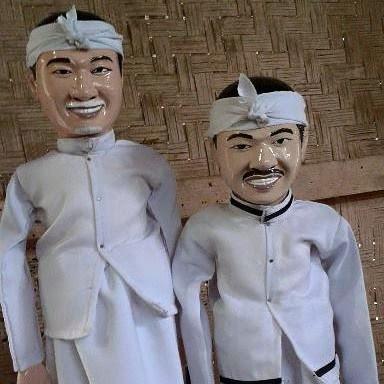 wayang golek custom karakter wajah mirip Dedi Mulyadi & Dedi Mizwar