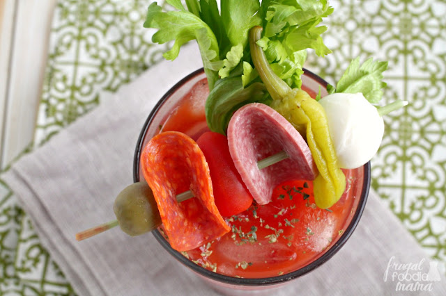 Inspired by a favorite Italian appetizer, this Antipasto Bloody Mary is a tasty twist on the classic brunch cocktail.