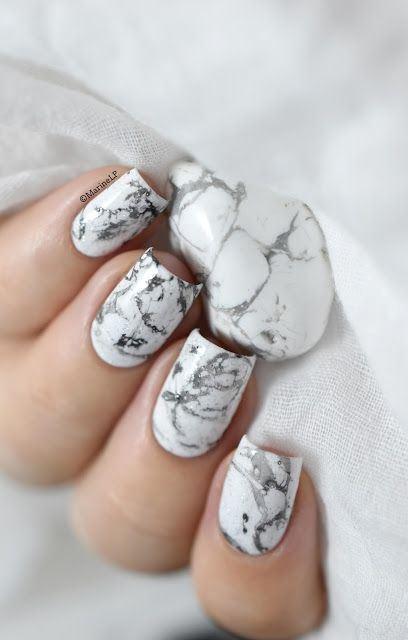 nail art idea: marbling