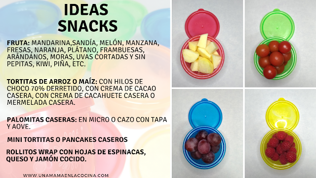 Set recipientes Nuby e ideas snack peques