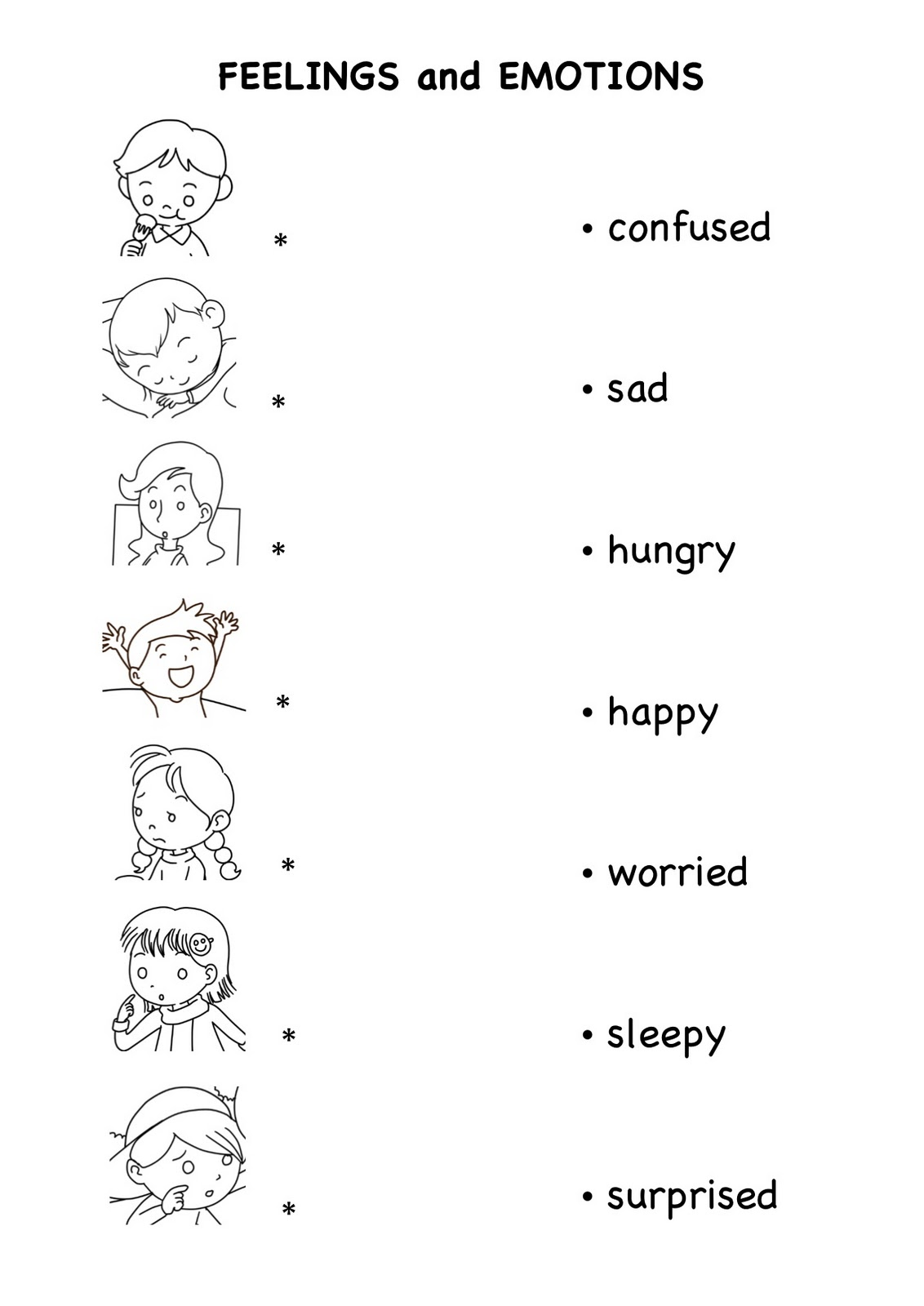 Feelings And Emotions Worksheets Worksheet Ixiplay