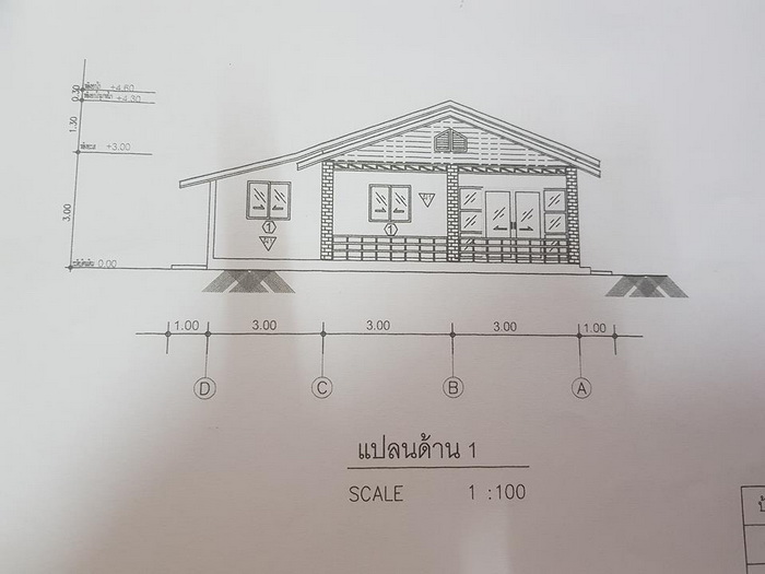 A house floor plan is a type of sketch that shows you the layout of a house or property. House Floor plans typically illustrate the location of windows, doors, stairs, and walls, as well as fixed installations such as kitchen cabinetry, bathroom fixtures, and appliances.  3 bedroom house designs are often popular with smaller families, couples or those looking to downsize their home. As matter fact 3 bedrooms, two bathroom houses are one of the most popular house types being built in the world due to the block sizes available in the metro area.    Choosing the right house design to suit you and your family's needs is so important when building a house so you can start with the house floor plans listed below.  House Type: Home Blue Tone Tropical Style Design    Suggested Lot area for this design: 125 Square Meters Of Living Space    Estimated Building cost: 800,000 baht (excluding interior decoration)    Bedroom: 3    Bathroom: 1    Kitchen: Yes    Source:  Amporn Chanwong  House Type: Tropical Style Single Storey House     Suggested Lot area for this design: 125 Square Meters Of Living Space    Estimated Building cost: 600,000 baht (excluding interior decoration)    Bedroom: 3    Bathroom: 2    Kitchen: Yes    Source:  SeaLake SEALAC