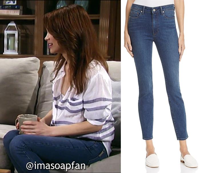 Elizabeth Webber, Rebecca Herbst, Blue Skinny Jeans, General Hospital, GH