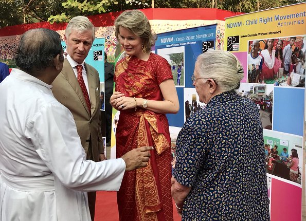 King Philippe and Queen Mathilde visited Mumbai's Oval Maidan and met Dr.  Jeanne Devos who is founder NDWM