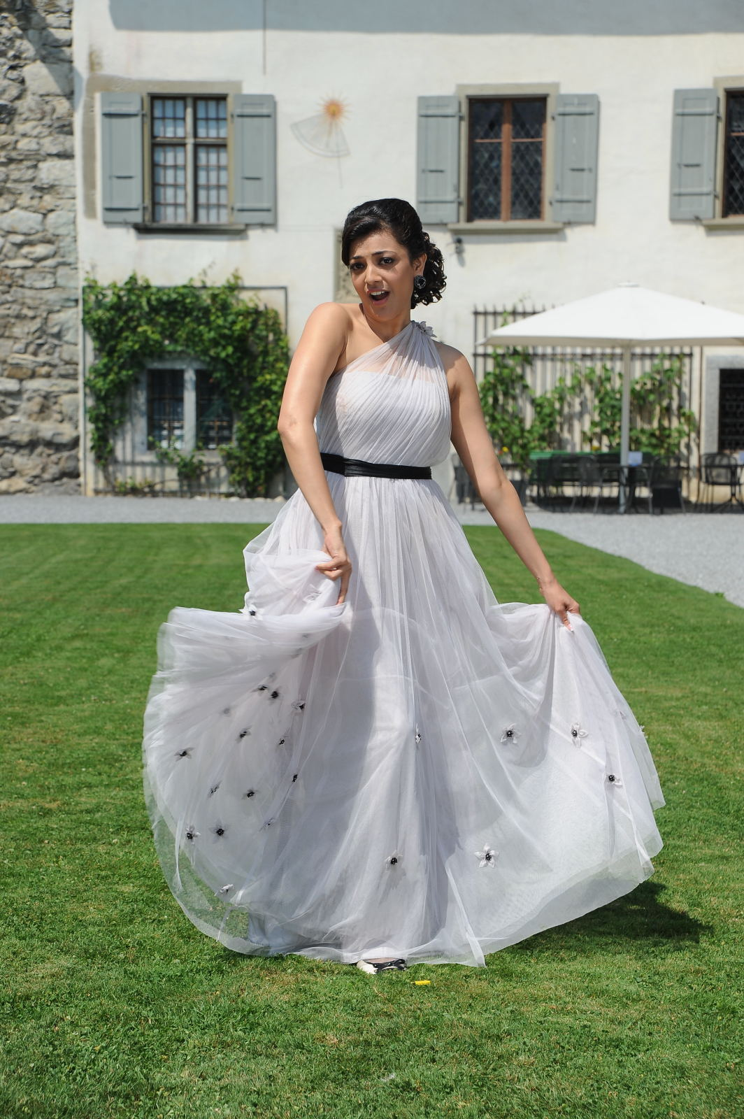 Glamorous Kajal Agarwal Photos In White Dress