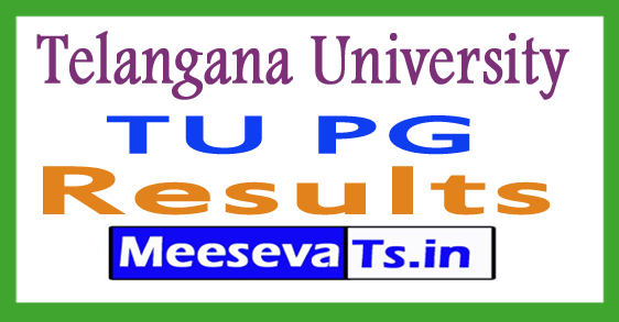 Telangana University (TU) PG Exam Result 2017