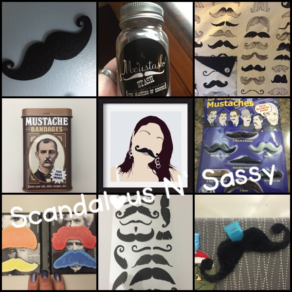 Moustache collage