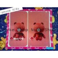 Hasil Cetak sticker, skotlet,   gambar tempel skin hp  Apple atau Iphone 4 atau 4 S 2