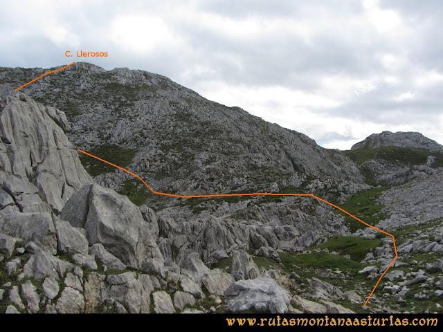 Ruta al Cabezo Llerosos desde La Molina: Camino a la cima del Cabezo Llerosos