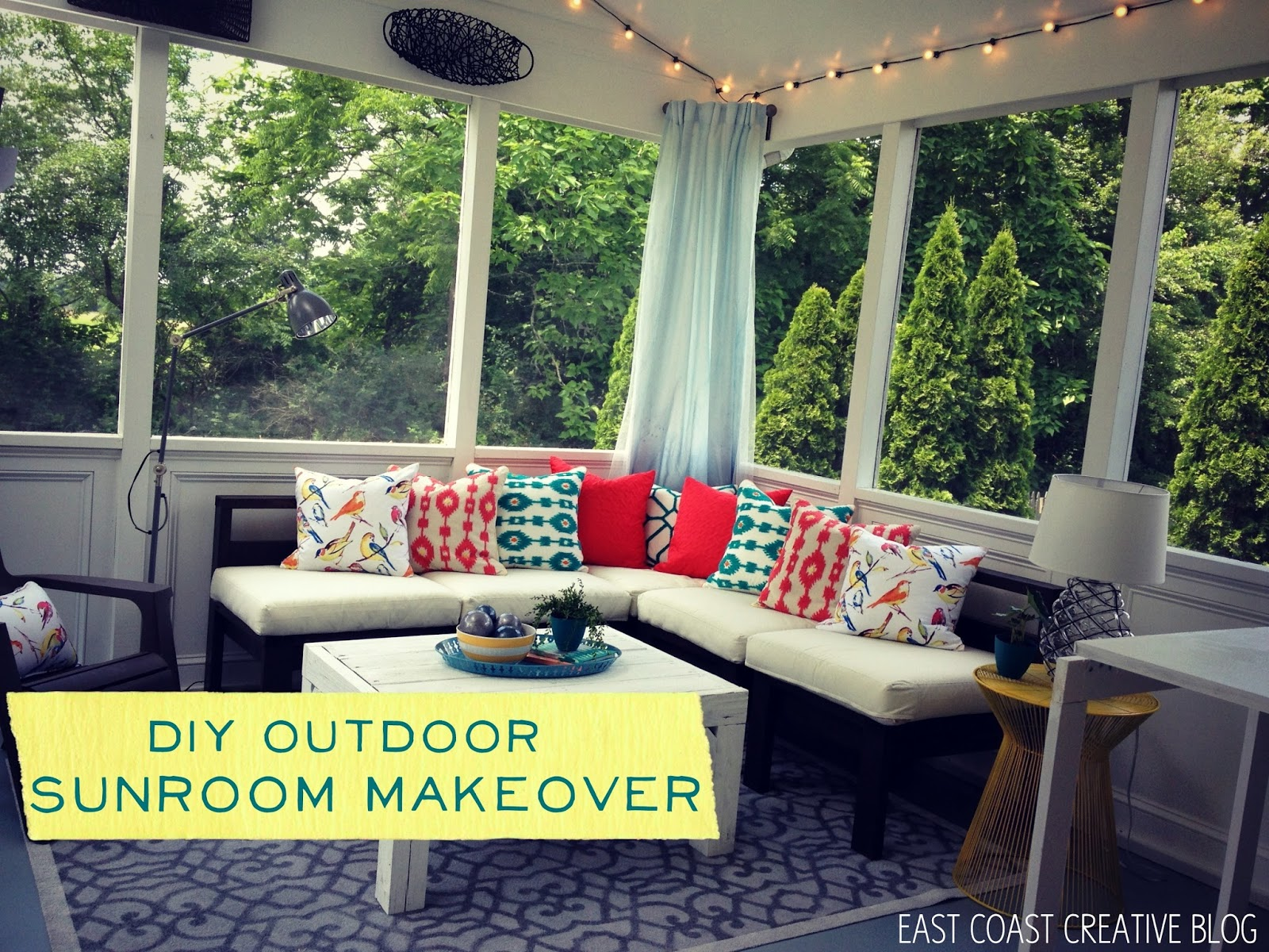 homemade modern ep 70 outdoor sofa usb charger diy sunroom makeover knock it off episode