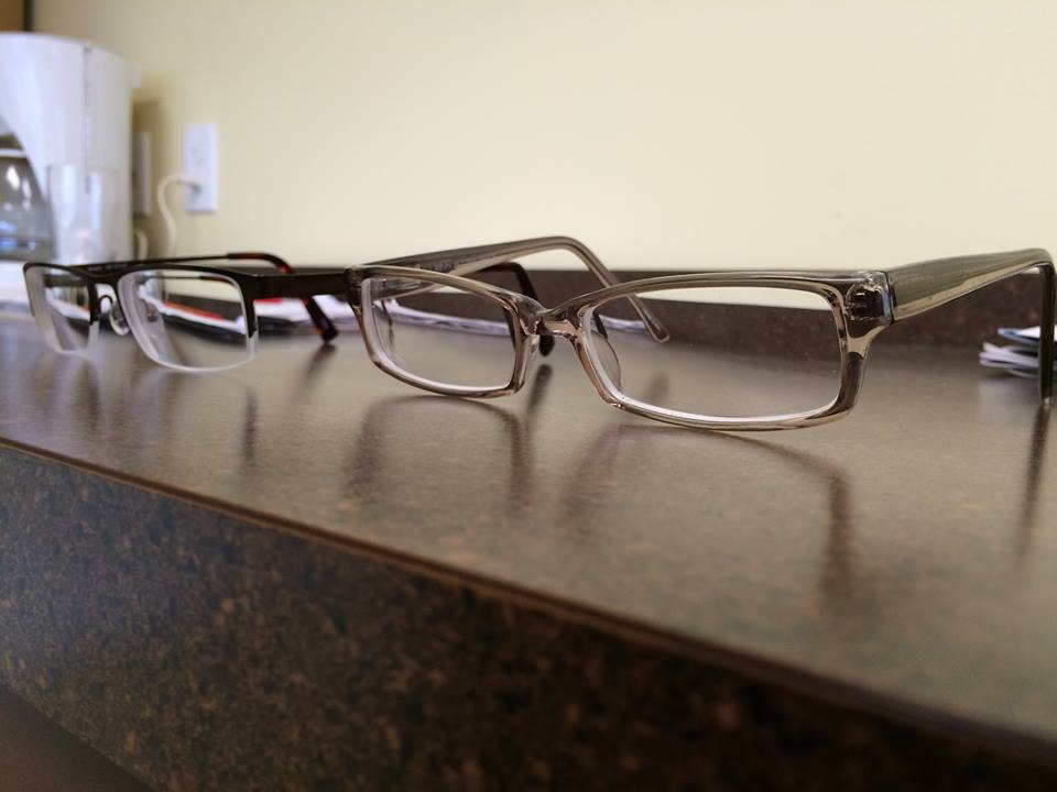 abd73e0362 Jane and I each got two new pairs of eyeglasses yesterday. Hers are very  fun and attractive  mine... well