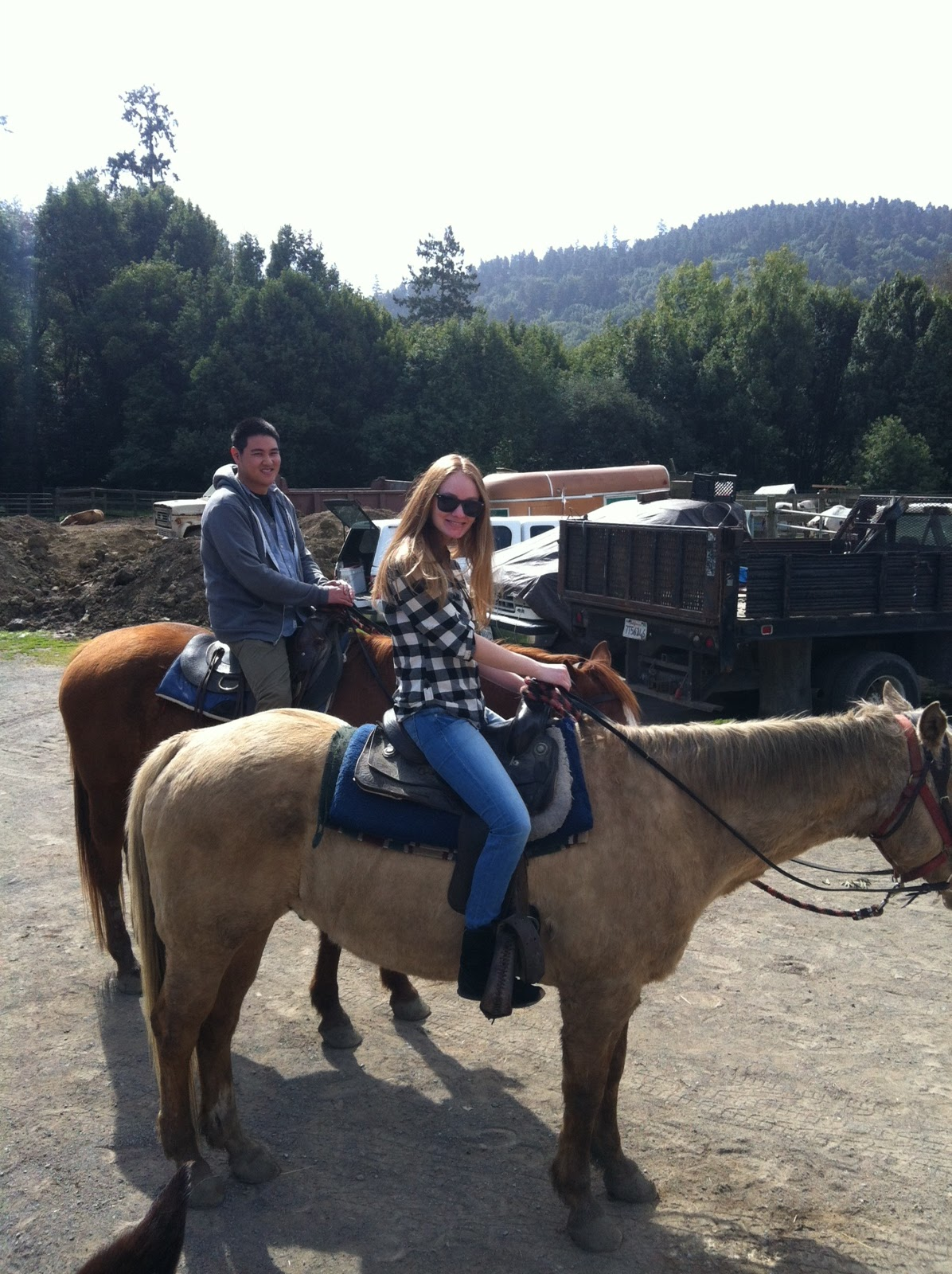 Me & my horse, Hank at Five Brooks Stables