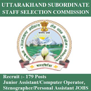 Uttarakhand Subordinate Service Selection Commission, UKSSSC, 12th, UK, Uttarakhand, Junior Assistant, Computer Operator, Stenographer, freejobalert, Sarkari Naukri, Latest Jobs, uksssc logo