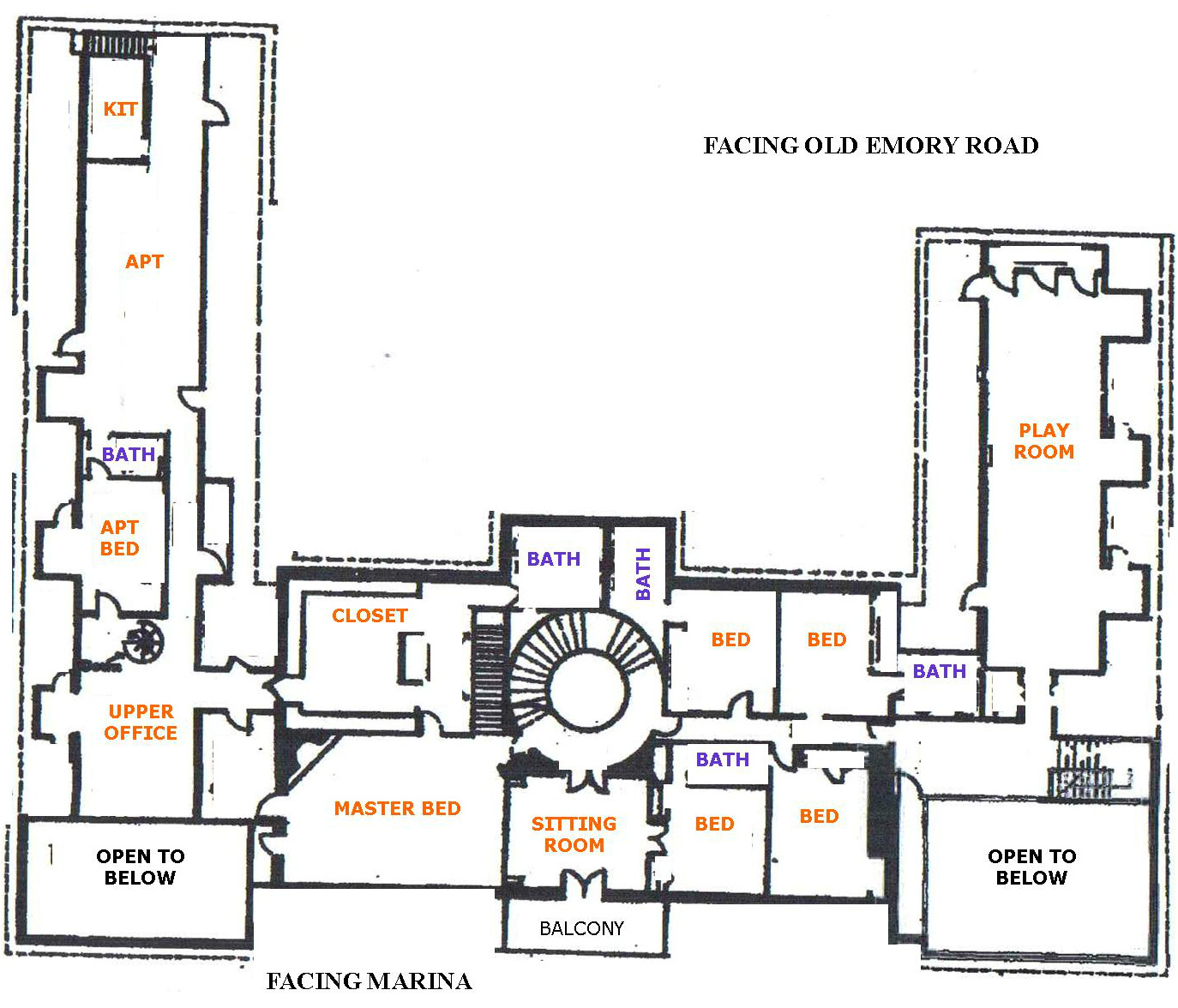 182 Whirlwind Lane: Original Floorplan For The Butcher