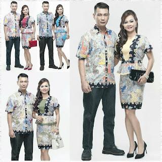 Model Batik Modern Terbaru Untuk Pesta Couple Seri Mutiara SKJ