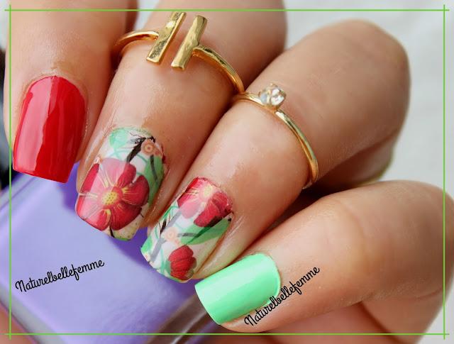 flower nail decals