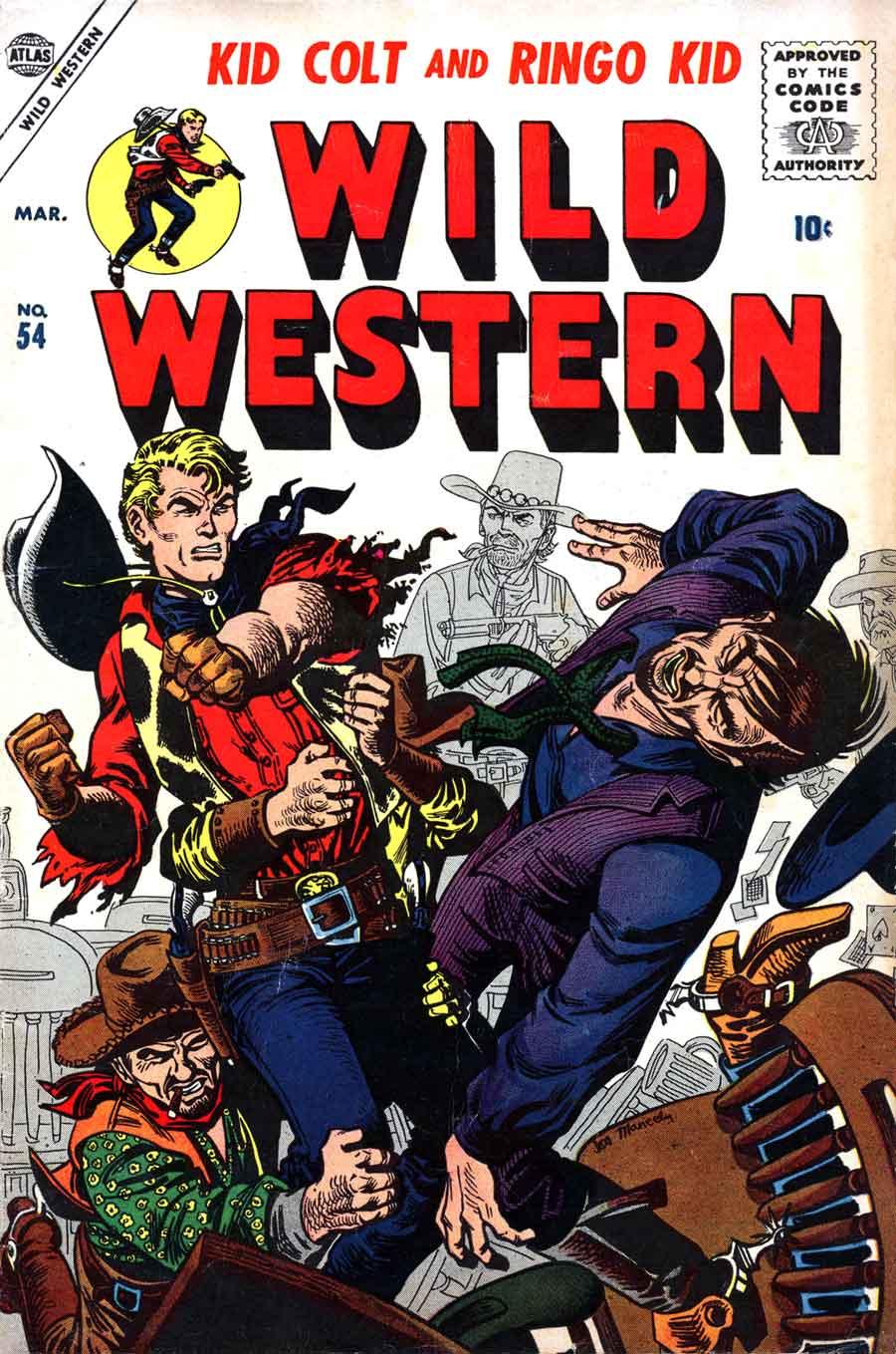 Wild Western #54 golden age atlas western1950s comic book cover