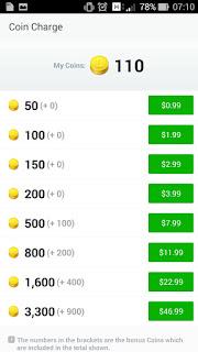 pembelian coin line gratis