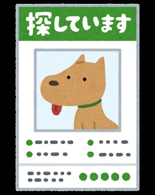 行方不明の犬のイラスト