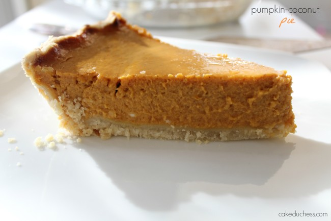 Pumpkin-Coconut Pie