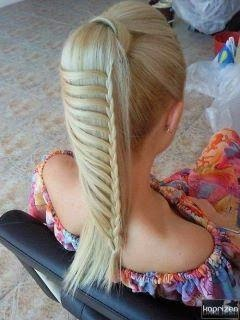 waterfall ponytail