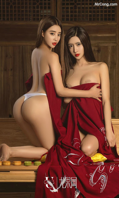 Hot girls Chinese Moon cakes and two big tits girls