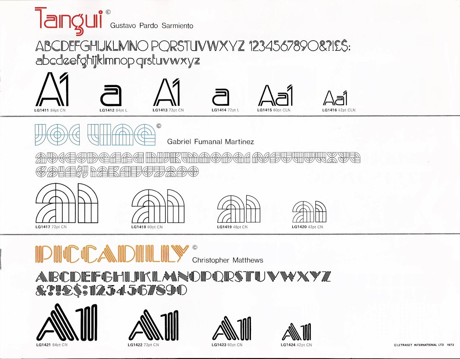 bembatype: La tipografía Tangui de Gustavo Pardo Sarmiento