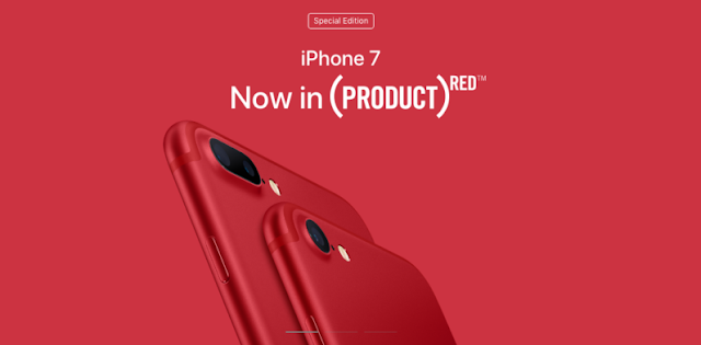 iPhone 7, iPhone 7 Plus Red