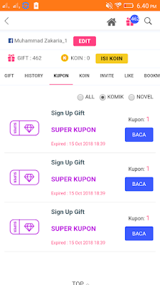 pulsa gratis dari aplikasi webcomics android