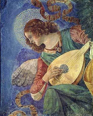 Melozzo da Forlì, Angelo che suona il liuto