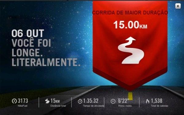 84a098de551 Site NikePlus.com – recorde da maior distância.