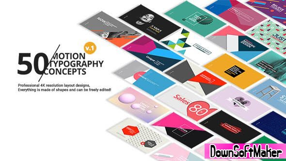 50 Motion Typography Concepts 21141394 Videohive - Free Download ...