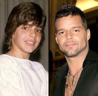 Foto de Ricky Martin antes y ahora
