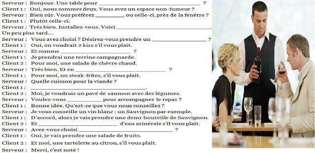 W restauracji - ćwiczenie - Francuski przy kawie
