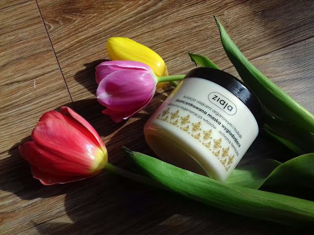 Ziaja kuracja olejkami arganowym i tsubaki -  skoncentrowana maska wygładzająca - nowa maseczkowa miłość :)