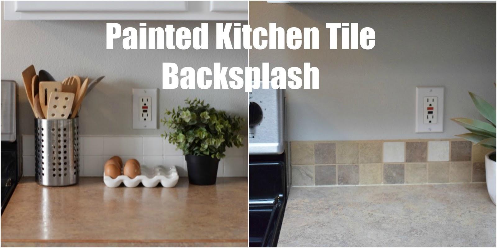 painted kitchen tile backsplash