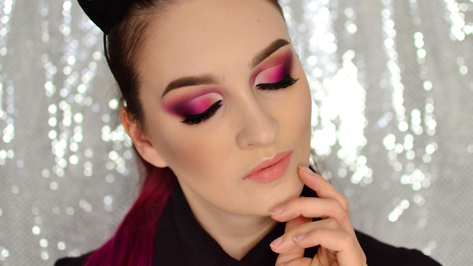 Różowe Cut Crease Na Sylwestra Tutorial Agata Welpa Makeup Blog
