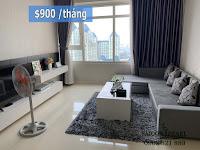 Sapphire 2 SGP cho thuê căn hộ 2 phòng ngủ - cửa kính view tòa The Manor