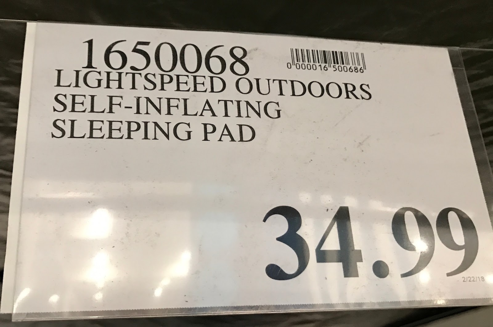 Deal for the Lightspeed Self-Inflating Sleep Pad with FlexForm at Costco