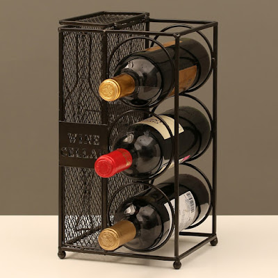 Shop Nile Corp Wholesale Metal Work Wine Bottle Wine Rack and Cork Collector Holder Three Bottles