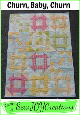 layer cake friendly Churn Baby Churn quilt pattern