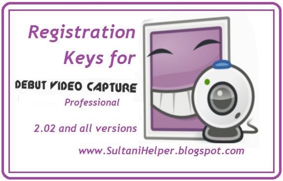 Registration or Serial Keys for NCH Debut Video Caputer