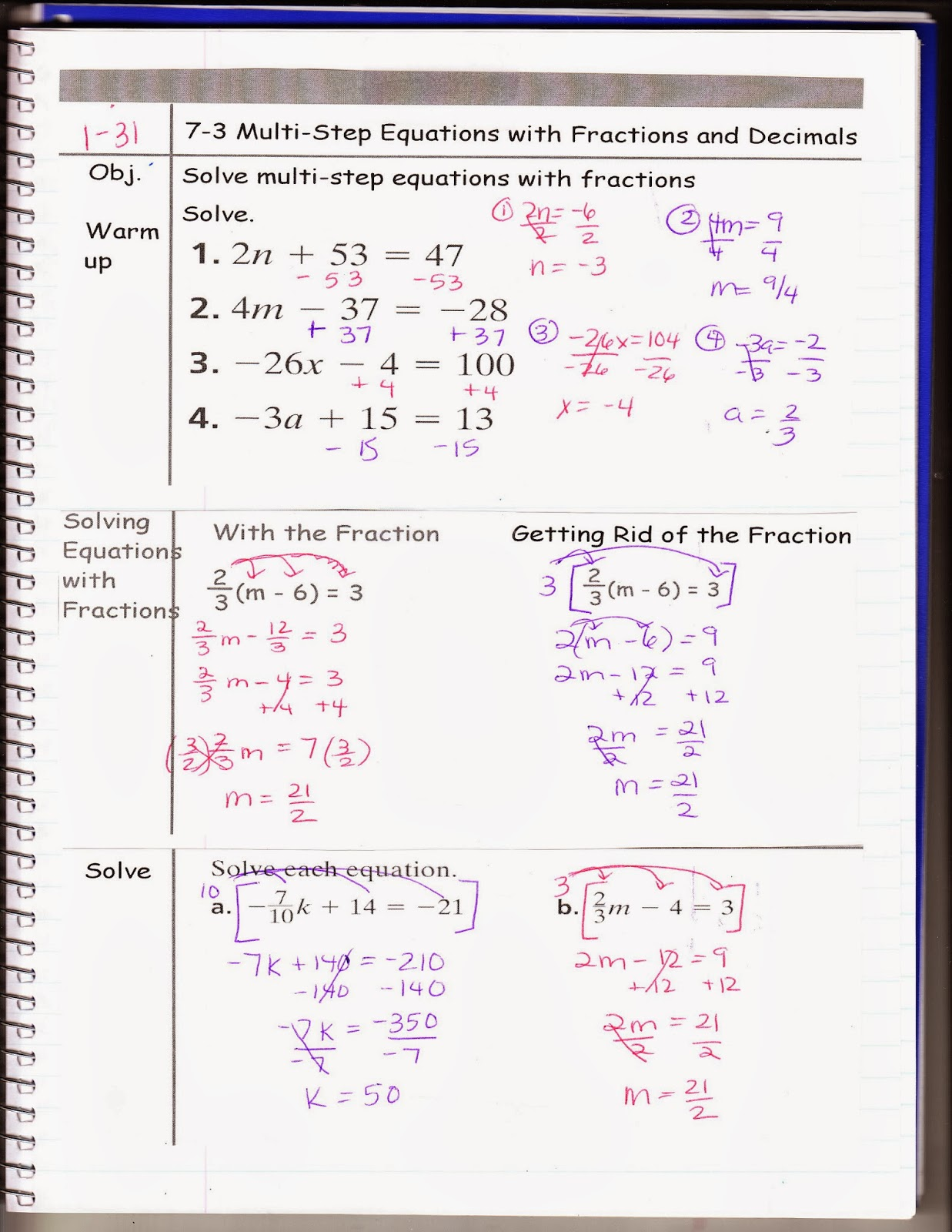 Ms Jean S Classroom Blog 7 3 Multi Step Equations With