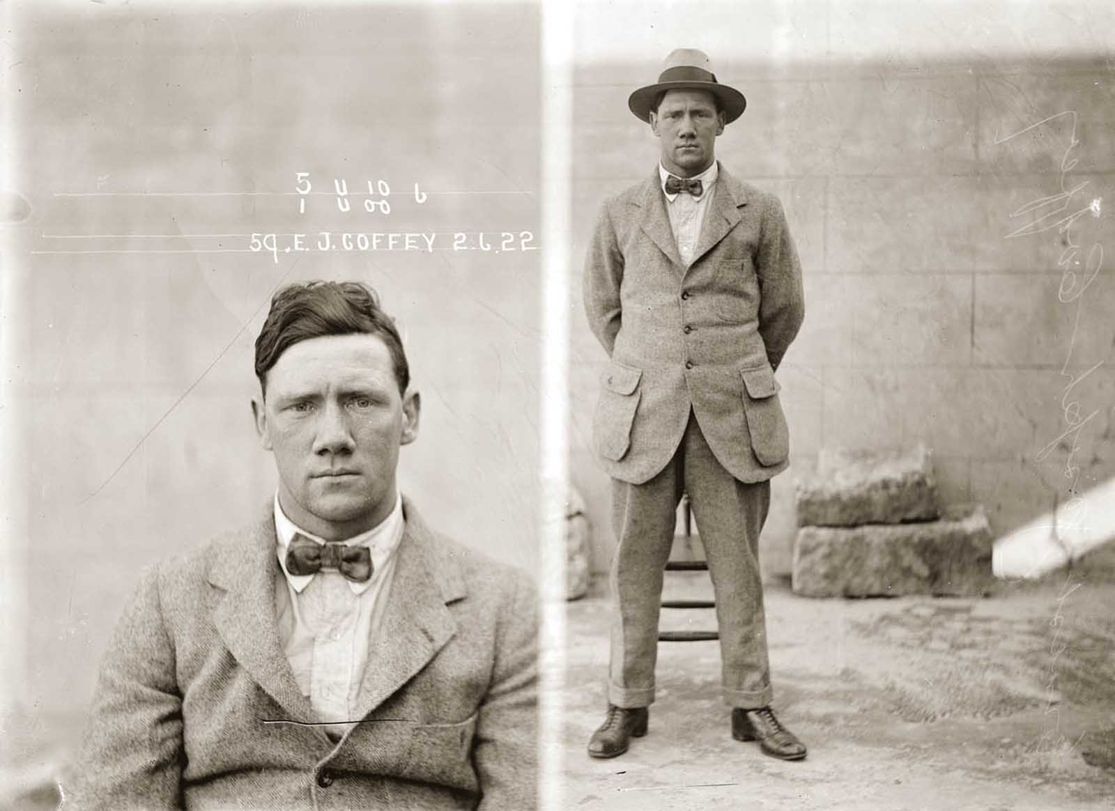 Ernest Joseph Coffey. 1922.