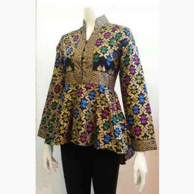 Model Baju Batik Muslim buat Kerja Wanita Terbaru