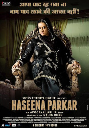 Poster Of Hindi Movie Haseena Parkar 2017 Full HD Movie Free Download 720P Watch Online