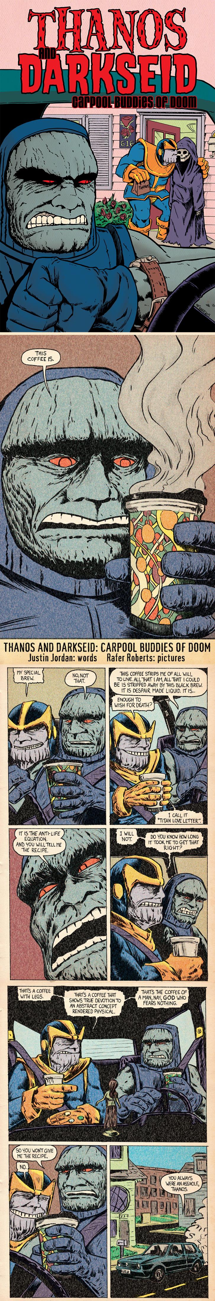 Thanos and Darkseid: Carpool Buddies of Doom