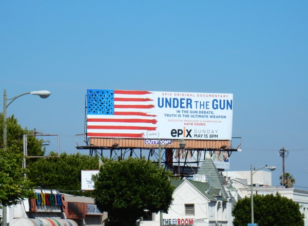 Under the Gun documentary film billboard