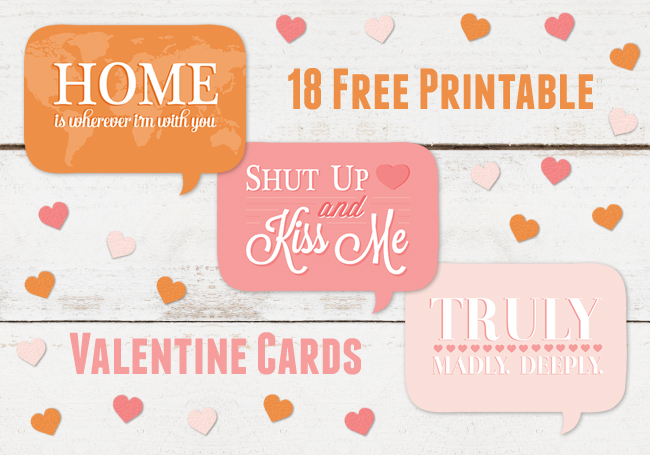 Free Printable Valentine\'s Cards - A Spoonful of Sugar