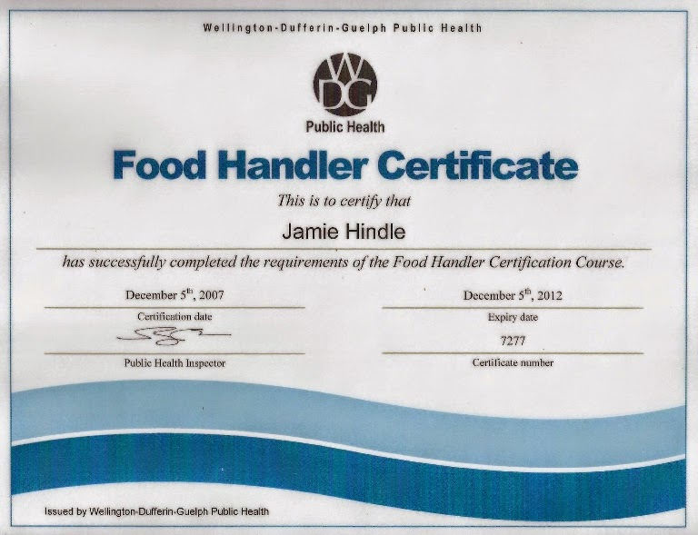 food handler training certificate – health and safety come first ...